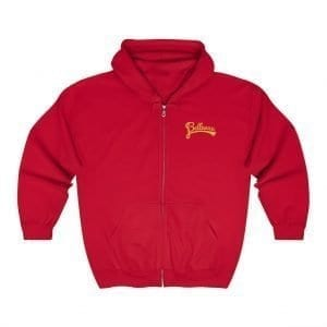 Bellevue Embroidered Zip-Up Hoodie