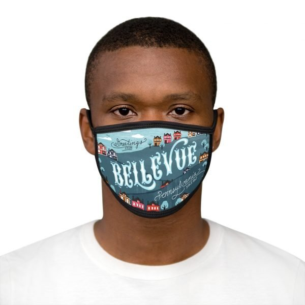 Welcome to Bellevue! Mixed-Fabric Face Mask