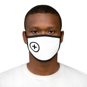 +Public (Black Logo) Mixed-Fabric Face Mask